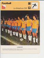 Fiche Foot Equipe Brésil 1977 Edinho Roberto Zico Cerezzo Ze Maria Gil Amaral Paulo Cesar  FICH-Football-2 - Deportes