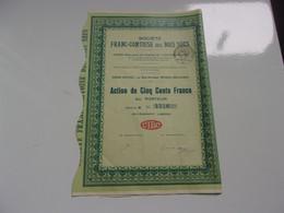 FRANC COMTOISE DES BOIS SECS (500 Francs) VESOUL-HAUTE SAONE - Sin Clasificación