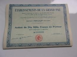 établissement De La Grand Pré (héricourt HAUTE SAONE) - Sin Clasificación