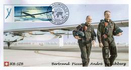 Solar Impulse Piccard Historic Flight Premier Jour 19 Juin 06 2021 Avion Aviation - 2010-....