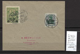 Pologne - Varsovie - Poste Locale Et Germania Surchargé -1915 - Covers & Documents
