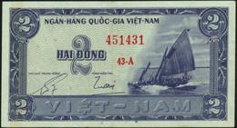 ♛ VIETNAM SOUTH - 2 Dong Nd.(1955) {Ngan-Hang Quoc-Gia Viet-Nam} VF P.12 - Vietnam