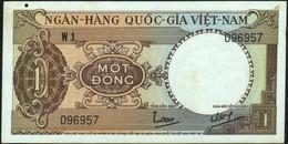 ♛ VIETNAM SOUTH - 1 Dong Nd.(1964) {Ngân-Hàng Quốc-Gia Việt-Nam} AU P.15 - Vietnam