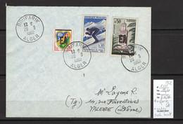 Algérie - EA - Boufarik - 1962 - Blason D'Alger Et Skieur - Surcharge Locale - Briefe U. Dokumente