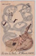 1940 - CP FM ILLUSTREE OFFERTE PAR BYRRH ECRITE Et VOYAGEE ! - Cartes De Franchise Militaire
