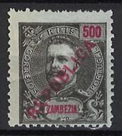 """Portugal Zambezia Mozambique 1917 """"D. Carlos I Republica"""" Local Surcharge Condition MH OG #101 (500r) - Zambezië"""