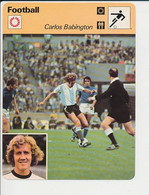 Fiche Foot Carlos Babington Argentine Italie (Benetti Anastasi) FICH-Football-2 - Deportes