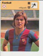 Fiche Foot Migueli FC Barcelone FICH-Football-2 - Deportes