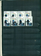 BELIZE J.O. LAKE PLACID 8 VAL NON DENTELES NEUFS  A PARTIR DE 5 EUROS - Belice (1973-...)