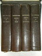 COFFRET DE 4 PAROISSIENS ROMAINS - RELIURE CUIR MARRON - TRANCHES DOREES - 1912 - 1901-1940