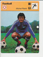 (avec Défaut) Fiche Foot Michel Platini FICH-Football-2 - Deportes