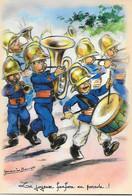 GRAVURE / GERMAINE BOURET :--La Joyeuse Fanfare En Parade!--- - Bouret, Germaine