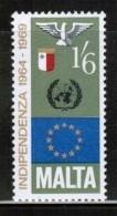 EUROPEAN IDEAS 1969 MT MI 396 MALTA ** - Idées Européennes