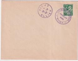1940 - OBLITERATION VIOLETTE SPECIALE De L'ASSEMBLEE NATIONALE à VICHY LE 10 JUILLET 1940 ! IRIS / ENVELOPPE NON ECRITE - WW II