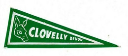 Fanion Pub Publicitaire ANCIEN RARE 1950 écusson Ane Collection CLOVELLY DEVON SUD OUEST DE L'ANGLETERRE - Plaques De Rallye