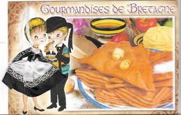 FANTAISIES - CARTE BRODÉE - LES GOURMANDISES DE BRETAGNE - CPM - VIERGE - ÉDITEUR /  JACK / F139 - - Borduurwerk