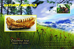 Vignettes De Fantaisie, Extinct Animals ,  Ruminantia, Palaeomeryx Kaupi - Fantasie Vignetten