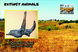 Vignettes De Fantaisie, Extinct Animals ,  Ruminantia, Procranioceras Skinneri - Fantasie Vignetten