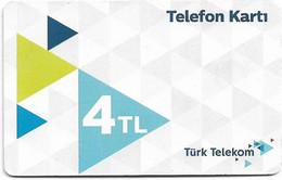 Turkey - TT (chip) - C-0324K - Telefon Karti (White), Chip CHT05, Eylül 2019, 4₤, Used - Turkije