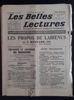 Les Belles Lectures Les Propos De Labienus Par Rogeard 1952 - Art