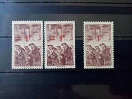 FRANCE. 1941. N° 489 Et 489 F..  Surcharges Déplacées . NEUFS++ . Côte MAURY  2019 : 24,50 € - Curiosities: 1941-44 Mint/hinged