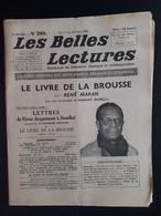 Les Belles Lectures Le Livre De La Brousse Par Rene Maran 1952 - Art