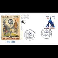 FDC JF - Anciens Combattants, Bleuet De France - Oblit 9/11/2016 Paris - 2010-....