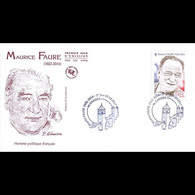FDC JF - Maurice Faure - Oblit 25/3/2017 Cahors - 2010-....