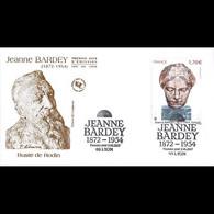 FDC JF - Tableau Jeanne Bardey. Buste De Rodin - Oblit 2/6/2017 Lyon - 2010-....