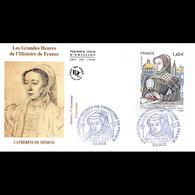 FDC JF - Grandes Heures Histoire De France (2 Env) - Oblit 3/6/2016 - 2010-....