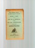 Livre ANCIEN NOTE SUR LA PROTECTION CONTRE LES GAZ ASPHYXIANTS 1917 ETAT MAJOR Militaria - War 1914-18