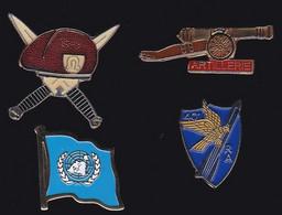 71458- Lot De 4 Pin's -Militaire.armée. - Militari