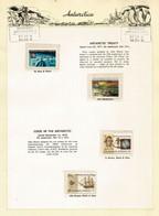 Antarctic Treaty / Captain Cook In Antarctica. On Official Presentation Sheet (Mawson Base AAT) Mint ** MNH - Tratado Antártico