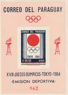 PARAGUAY - BLOC N°51 ** NON DENTELE (1964) Jeux Olympiques à Tokyo 1964 - Paraguay