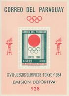 PARAGUAY - BLOC N°50 ** (1964) Jeux Olympiques à Tokyo 1964 - Paraguay