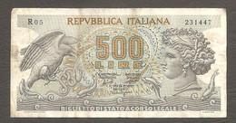 """Italia - Banconota Circolata Da 500 Lire """"Aretusa"""" P-93a.1 - 1966 #19 - 500 Lire"""
