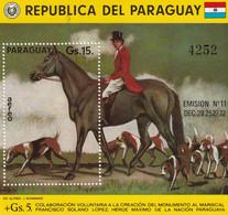 PARAGUAY - BLOC N°243 ** (1975) Chasse à Cour - Paraguay