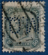 2106.1920 Austria 1899 50 H Perfin M.O. - Used Stamps