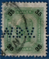 2106.1920 Austria 1901 35 H Perfin W.B.V. - Used Stamps