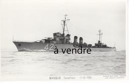 BASQUE  Torpilleur  11-5-1936 - Warships