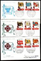MALTA (Ordre De ) - 1967 - Flags / Draleaux -  3 FDC - Voyage - Briefe