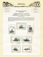 Voiliers Historiques En Antarctique,sur 2 Feuilles Officielles Presentation (Mawson Base AAT) Neufs ** Yv.37/52,3 Photos - Navi Polari E Rompighiaccio
