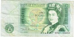 Grande-Bretagne - Billet De 1 Pound - Elizabeth II & Isaac Newton - Non Daté - P377b - 1 Pound