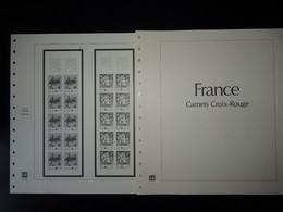 Feuilles France Safe Dual Pour Carnets Croix Rouge Préimprimées De 1984 à 2001 - Pre-Impresas
