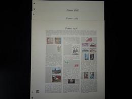 France Plaquettes Couleur Safe Dual Pour Les Années 1978 à 1980 - Pre-Impresas
