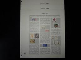 France Plaquettes Couleur Safe Dual Pour Les Années 1983 à 1985 - Pre-Impresas