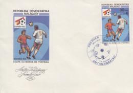 Enveloppe  FDC  1er  Jour   MADAGASCAR   Coupe  Du   Monde  De  Football   1982 - Madagascar (1960-...)