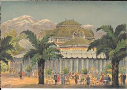 PERPIGNAN - Le Palmarium Place Arago Et Le Canigou    Edition  M. Barré & J.Dayer - Perpignan