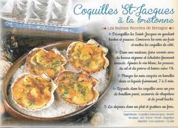 RECETTES DE CUISINE - COQUILLES ST-JACQUES À LA BRETONNE - CPM - VIERGE - - Recettes (cuisine)
