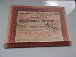 FONCIERE ET IMMOBILIERE DU TREPORT (obligation 500 Francs)1928 - Non Classificati